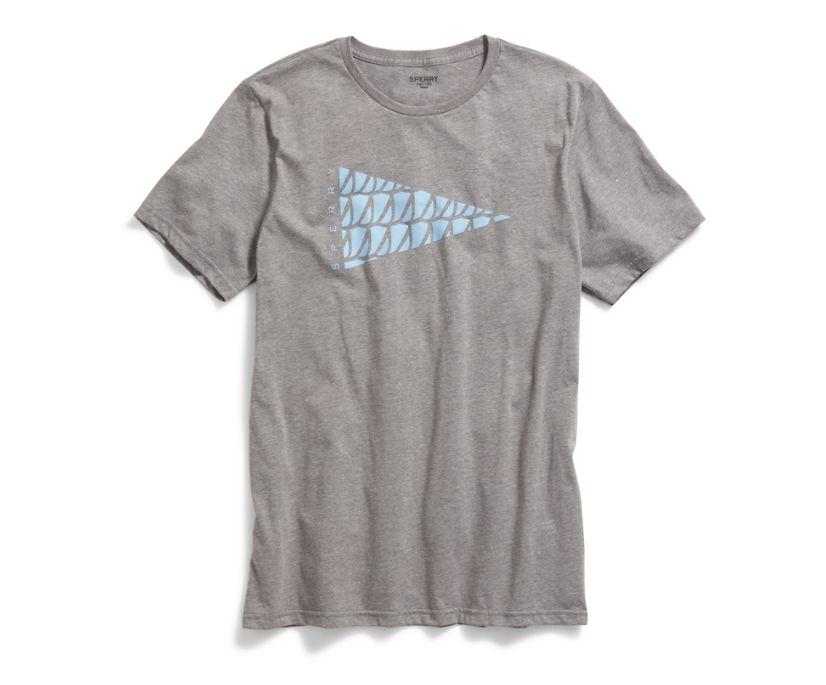 Burgee Flag T-Shirt, Heather Grey, dynamic