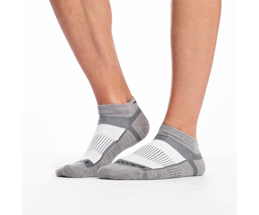 Inferno Merino Wool Blend Low Cut 3-Pack Sock, White Assorted, dynamic