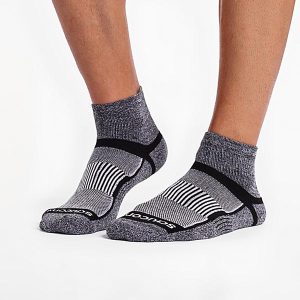 Inferno Quarter 3-Pack Socks, Black White Twist, dynamic