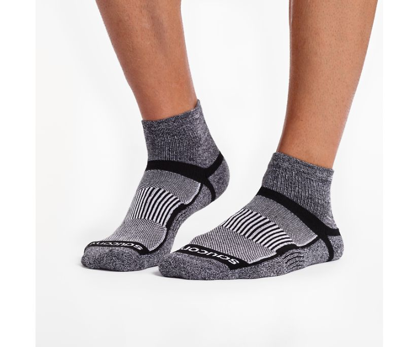 Inferno Quarter 3-Pack Socks, Black White Twist, dynamic