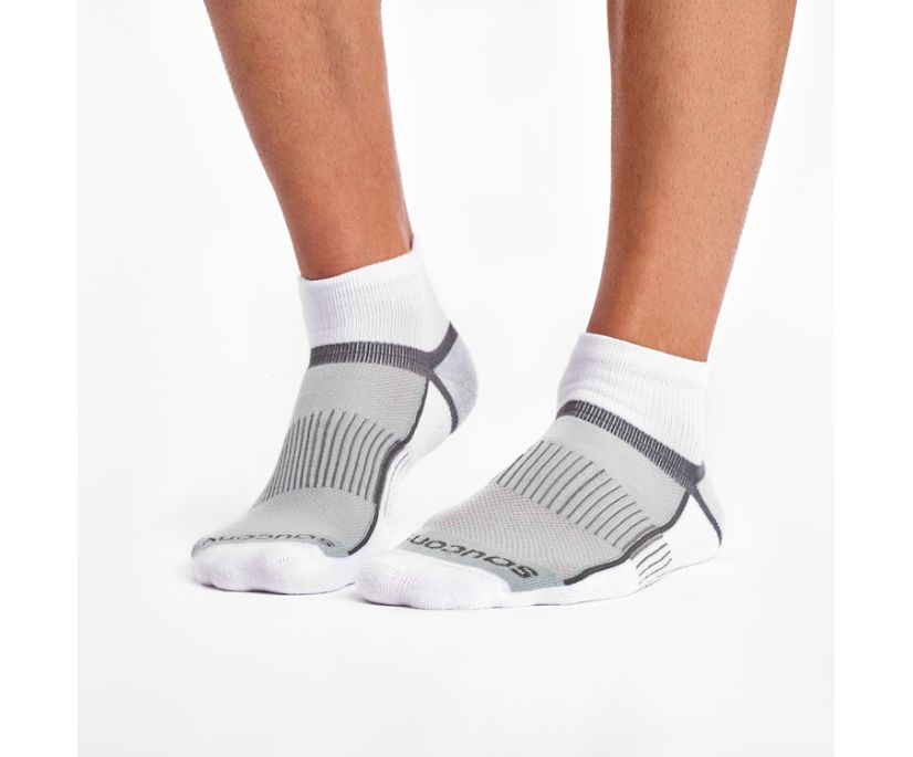 Inferno Quarter 3-Pack Socks, White, dynamic