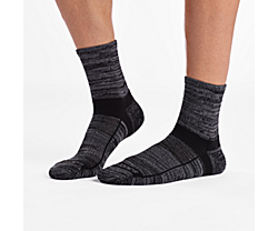 Inferno Merino Wool Blend Quarter 3-Pack Sock, Black, dynamic