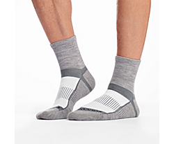 Inferno Merino Wool Blend Quarter 3-Pack Sock, White Assorted, dynamic
