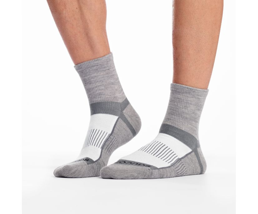 Inferno Merino Wool Blend Quarter 3-Pack Sock, White Assorted, dynamic