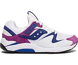 Grid 9000 Premium Suede, White | Purple, dynamic