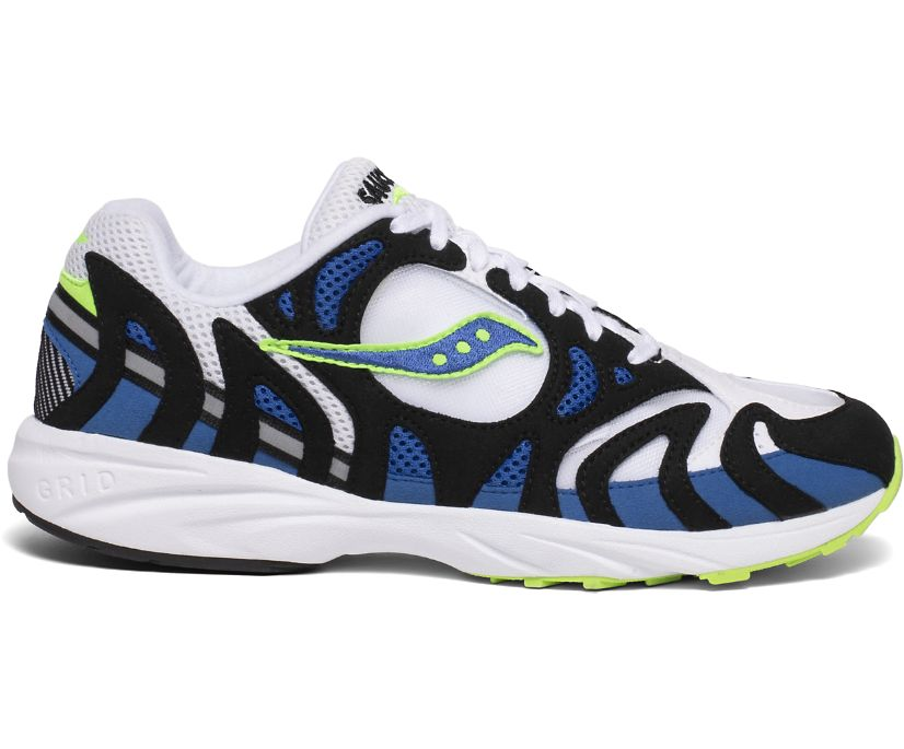 Grid Azura 2000, White | Blue | Lime, dynamic