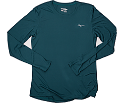 Long Sleeve Tech Tee, Green, dynamic
