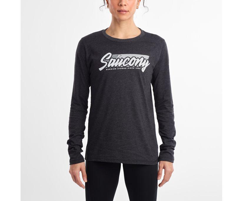 Long Sleeve Logo Tee, Dark Grey Heather, dynamic