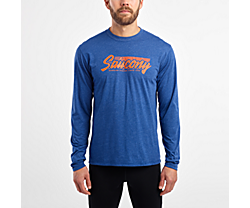 Long Sleeve Logo Tee, Limoges, dynamic
