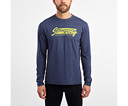 Long Sleeve Logo Tee, Navy, dynamic