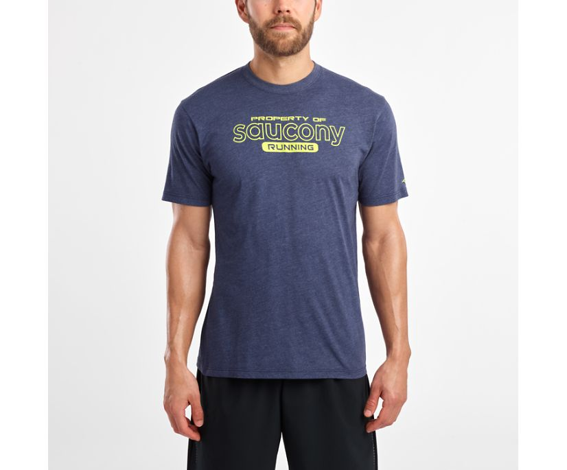 Short Sleeve Logo Tee, Navy, dynamic