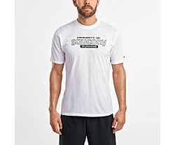 Short Sleeve Logo Tee, White, dynamic