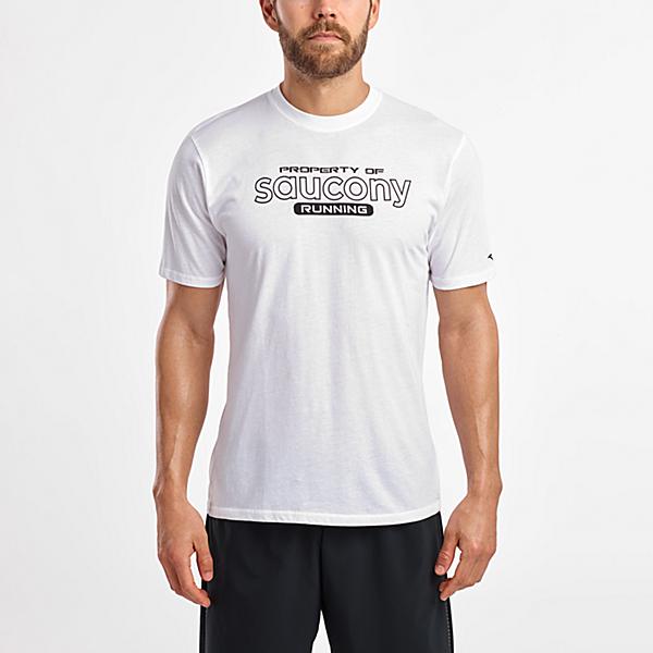 Short Sleeve Logo Tee, White, dynamic