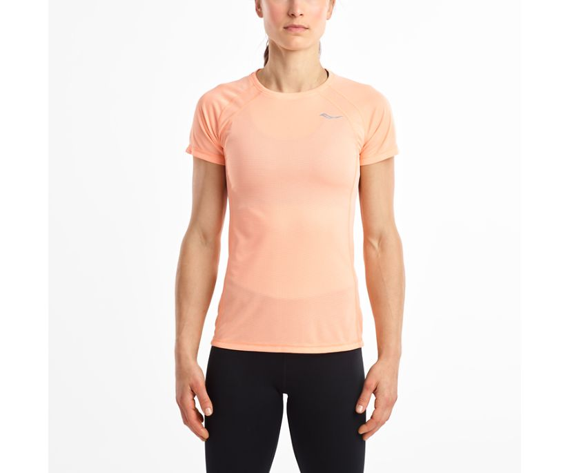 Hydralite Short Sleeve, Peach Nectar, dynamic