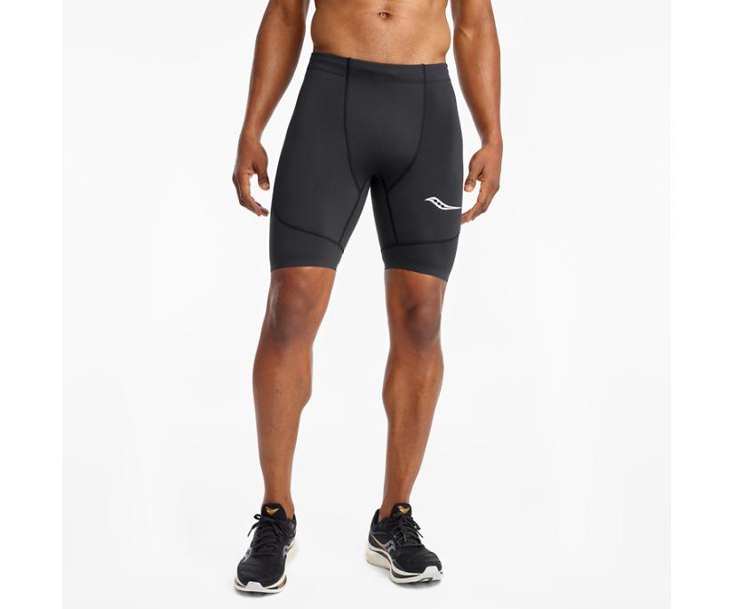 Saucony Elite Tight Short, Black | Red, dynamic
