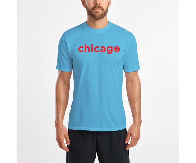 Chicago Tee, Aqua, dynamic