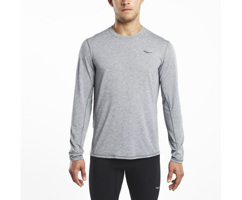 Freedom Long Sleeve, Dark Grey Heather, dynamic