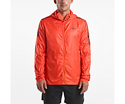Pack-It Run Jacket, Flame, dynamic