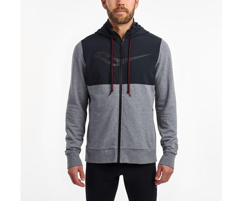 Cooldown Jacket, Dark Grey Heather | Black, dynamic
