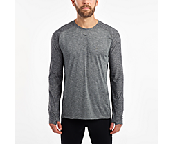 Breakthru Long Sleeve, Dark Grey Heather, dynamic