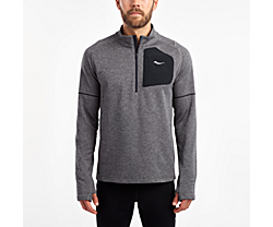 Runstrong Thermal Sportop, Dark Grey Heather, dynamic