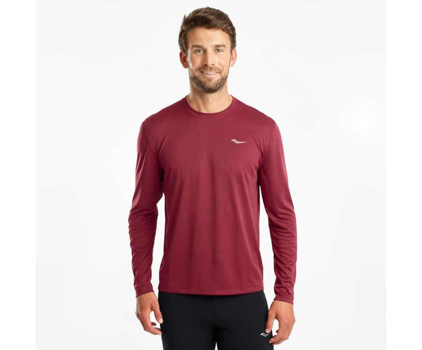 Stopwatch Long Sleeve, Cordovan, dynamic