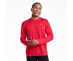 Stopwatch Long Sleeve, Saucony Red, dynamic