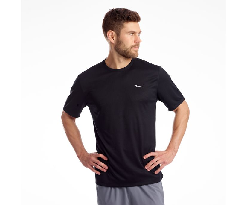 Stopwatch Short Sleeve, Black, dynamic