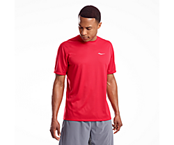 Stopwatch Short Sleeve, Saucony Red, dynamic