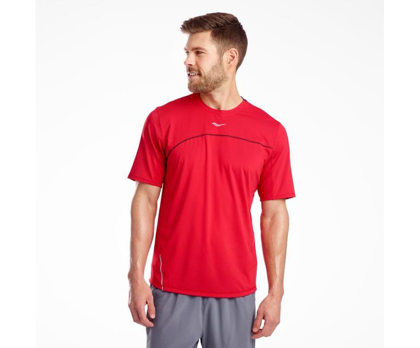 Drafty Short Sleeve, Saucony Red, dynamic
