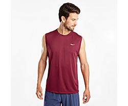 Stopwatch Sleeveless, Cordovan, dynamic