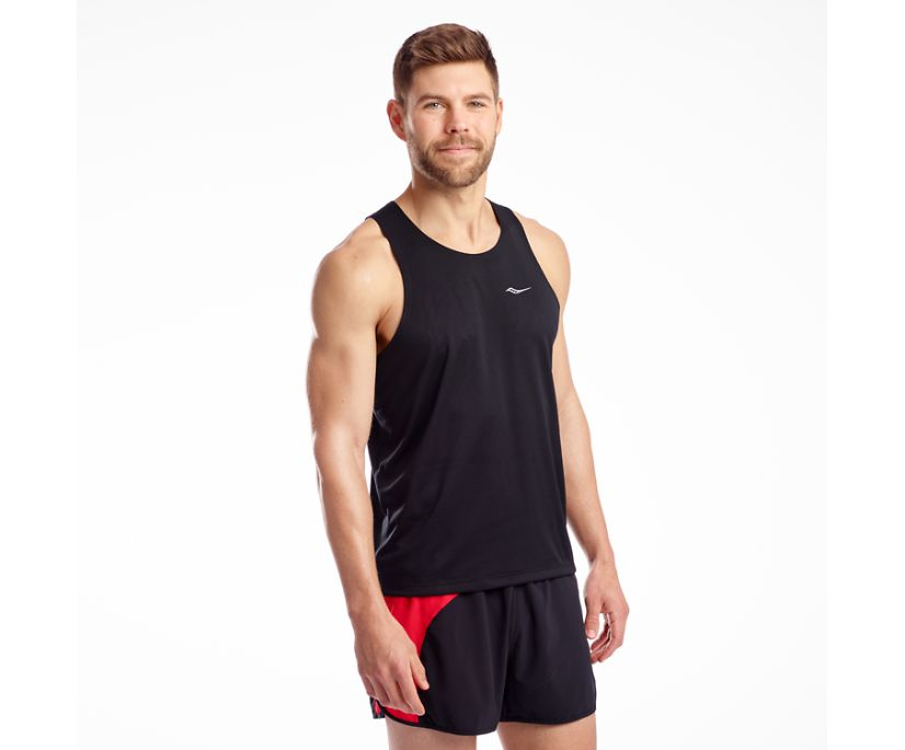 Stopwatch Singlet, Black, dynamic