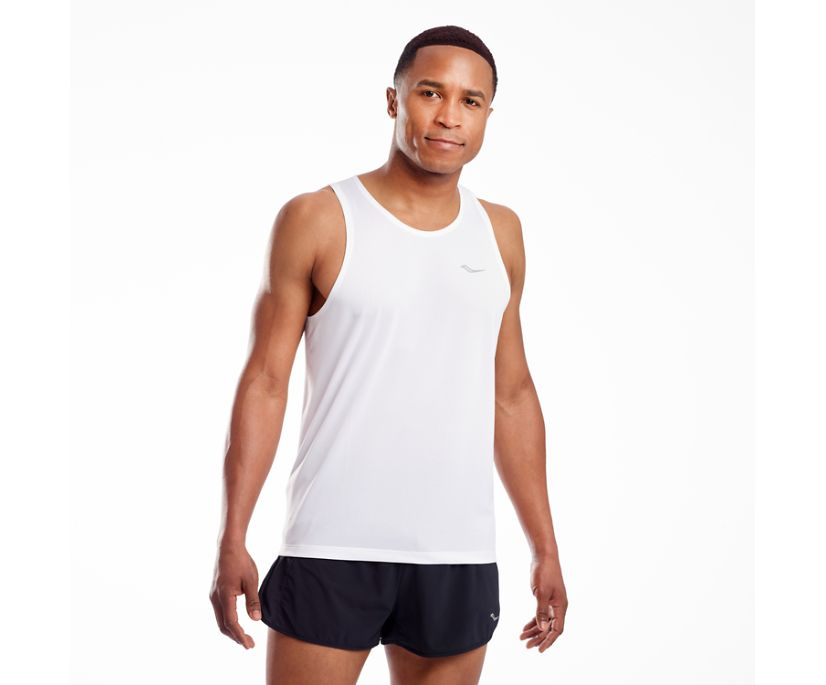 Stopwatch Singlet, White, dynamic