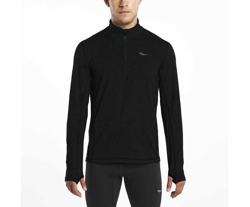 1/4 Zip Sportop, Black, dynamic