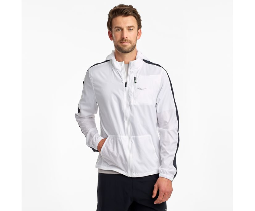 Packaway Jacket, White, dynamic