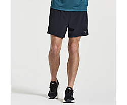 "Outpace 5"" Short, Black, dynamic"