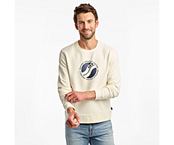 Rested Crewneck, Antique White, dynamic