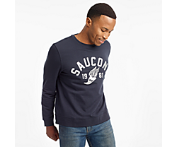 Rested Crewneck, Dark Navy, dynamic
