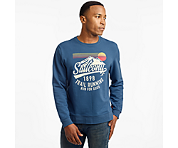 Rested Crewneck, Ensign Blue, dynamic