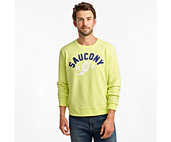 Rested Crewneck, Sunny Lime, dynamic