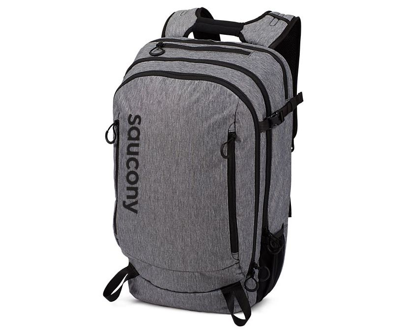 Saucony Backpack, Black Heather, dynamic