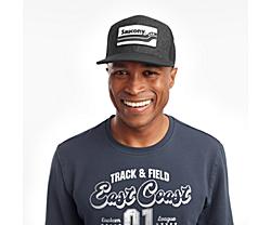 Saucony Trucker Hat, Black Heather, dynamic