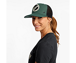 Saucony Trucker Hat, Dark Green, dynamic