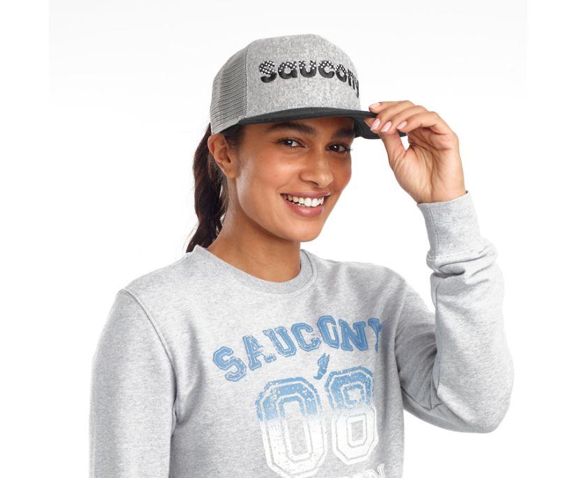 Saucony Trucker Hat, Light Grey Heather Print, dynamic