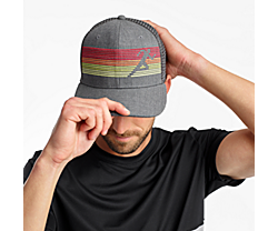 Saucony Trucker Hat, Dark Grey Heather, dynamic