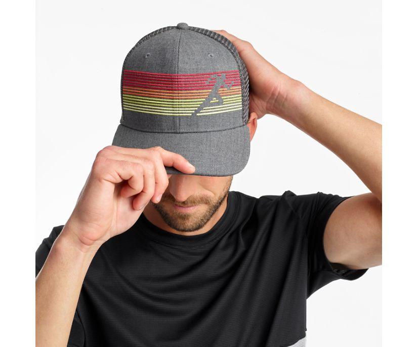 Saucony Trucker Hat, Dark Grey Heather, dynamic