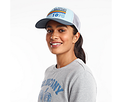 Saucony Foam Trucker Hat, Crystal Blue, dynamic