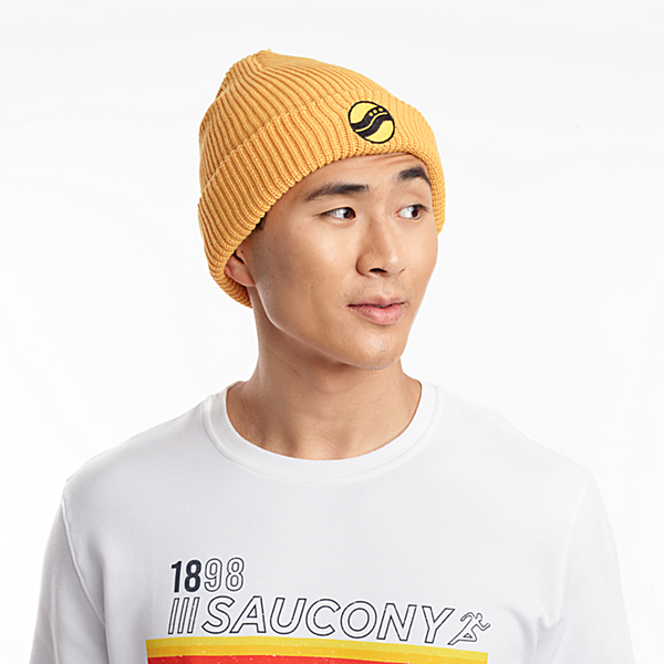 Rested Beanie, Spectra Yellow, dynamic