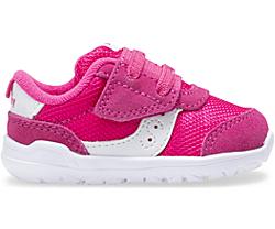 Jazz Riff Crib Sneaker, Pink | White, dynamic