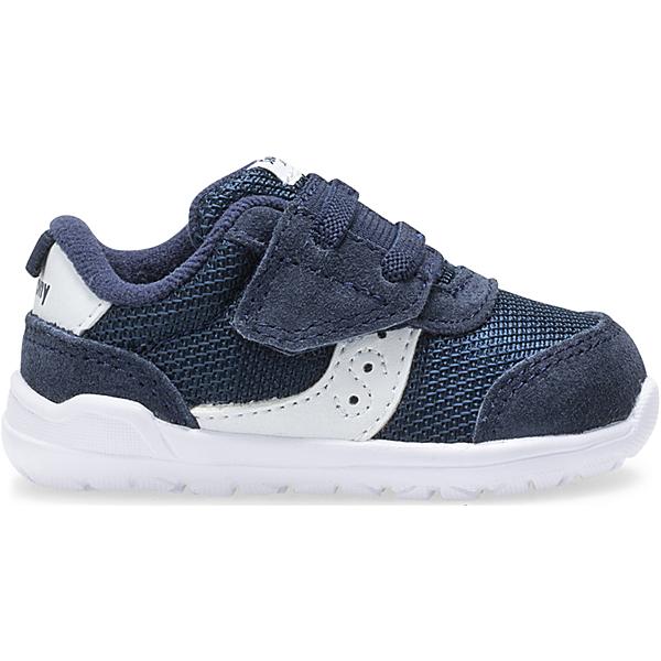 Jazz Riff Crib Sneaker, Navy | White, dynamic